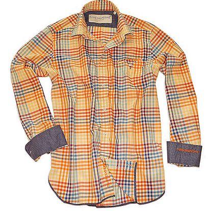 Oranžová bavlněná košile