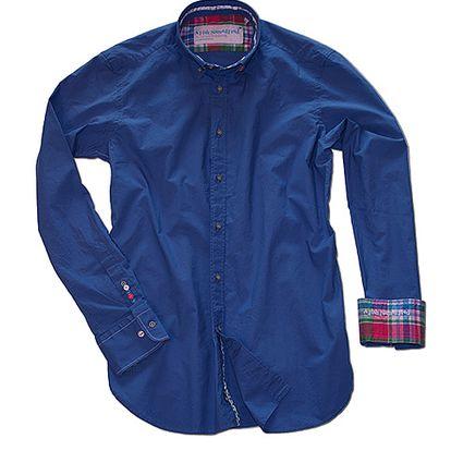 Modrá bavlněná košile Cobalt
