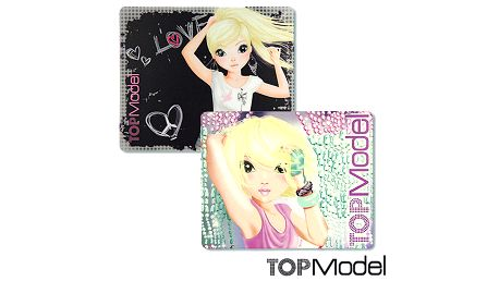 Praktická podložka pod myš s motivem modelek z kolekce TOP Model, barva černá.