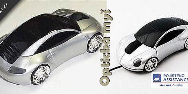 Velmi zajímavá optická myš ve tvaru klasiky Porsche 911 se svítícími světly zaujme každého správného fandu automobilů. Má ergonomický tvar a velmi dobře padne do ruky.
