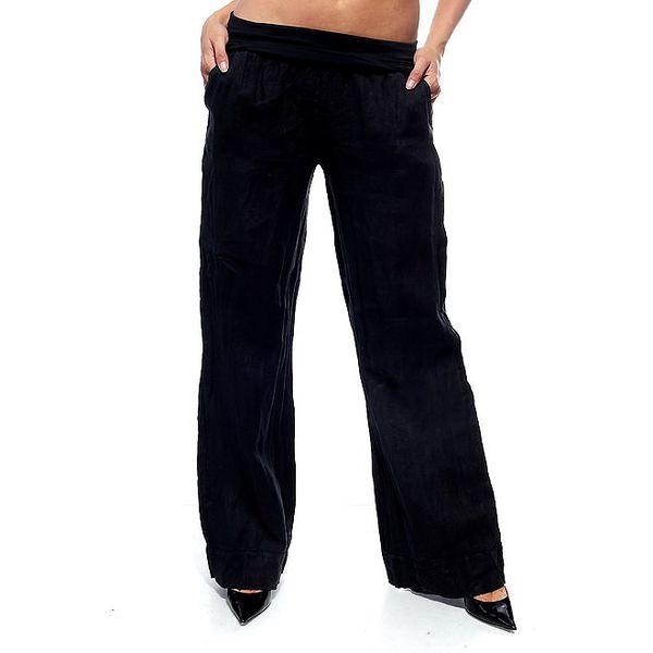 Dámske čierne ľanové nohavice Trois Quatorze