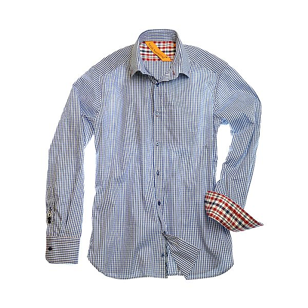 Modro-bílá pruhovaná košile Allasio