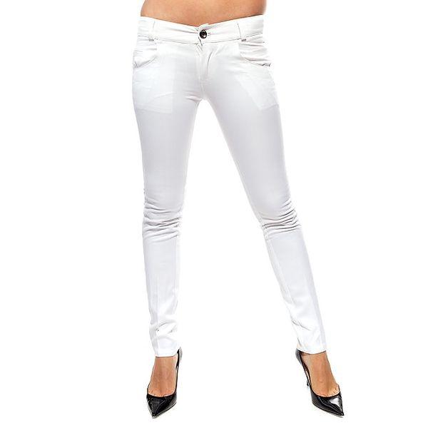 Dámské bílé úzké kalhoty Trois Quatorze