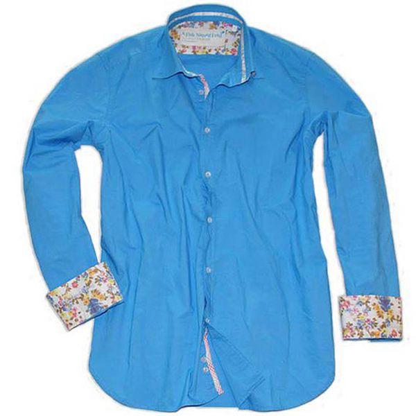 Modrá bavlněná košile Hippie