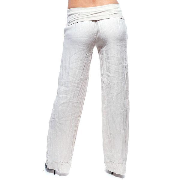 Dámské béžové lněné kalhoty Trois Quatorze