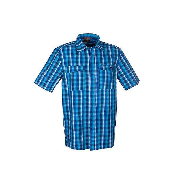 Pánská modrá kostkovaná košile Envy