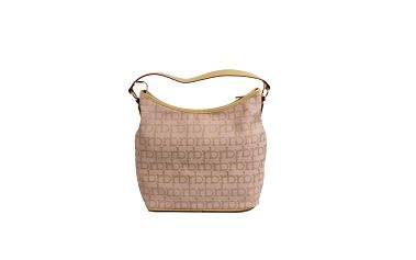 Dámska ružovo-béžová kabelka s monogramom Roccobarocco