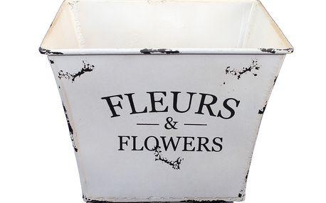 Čtvercový květináč, který se odkazuje na styl Provence.
