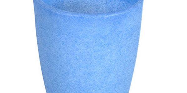 Fluorescenční váza Orchidea 20 cm, modrá