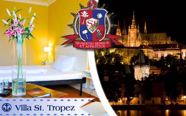 3 dny v Praze PRO DVA za 2299 Kč! Villa St. Tropez s vyhlášenou restaurací!