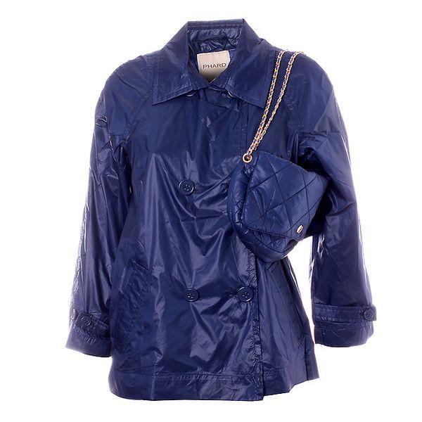 Dámsky tmavo modrý kabátik Phard s kabelkou