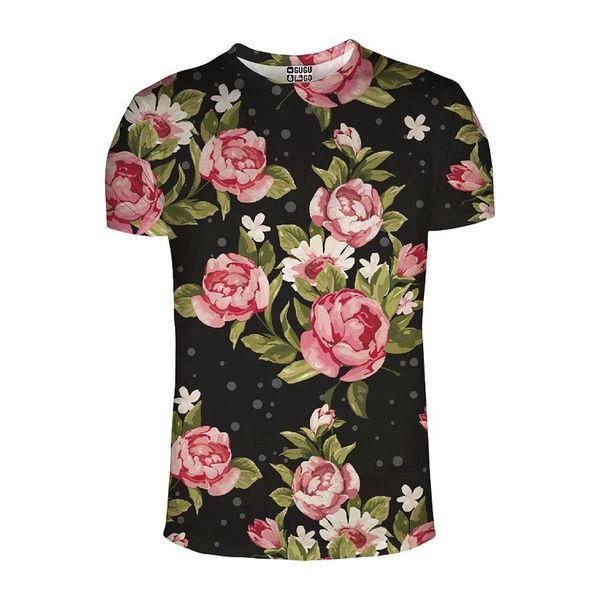 Unisex triko Mr.Gugu & Miss Go květovaný potisk
