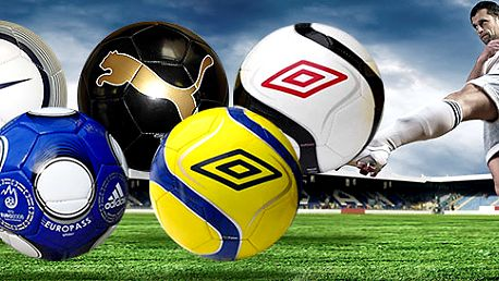 Futbalové lopty UMBRO, ADIDAS, NIKE a PUMA