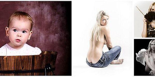 Profesionální set portrétů včetně A4 tisku a fotomakeupu od profi vizážistky