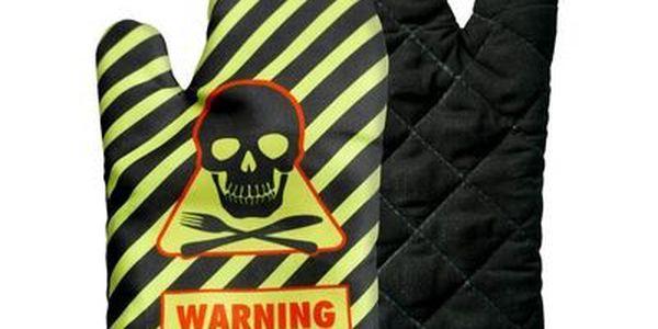Chňapka pro muže - warning man cooking