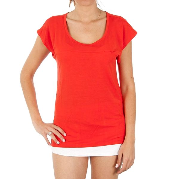 Dámské červené triko s kapsou Women'Secret