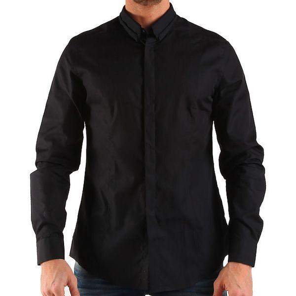 Pánska čierna košeľa s dlhým rukávom Calvin Klein