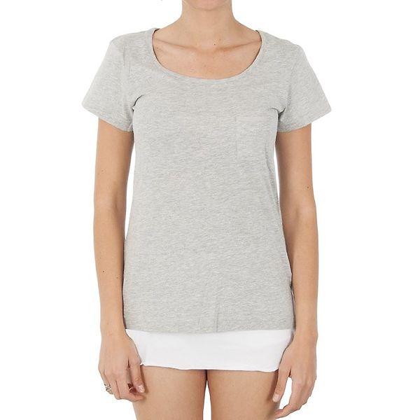 Dámské šedé triko s kapsou Women'Secret