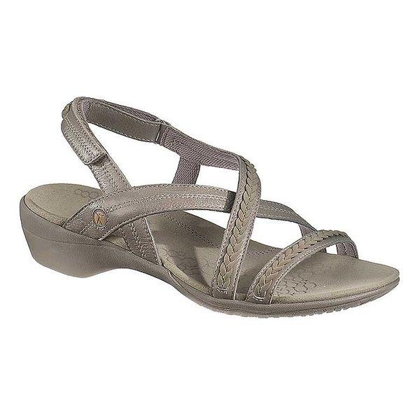 Dámské šedé kožené sandálky Hush Puppies