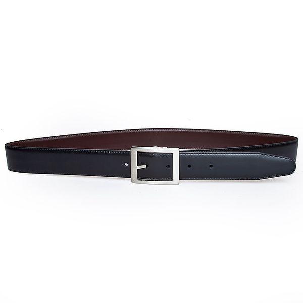 Pánsky obojstranný čierny kožený opasok Calvin Klein