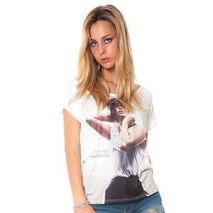 Dámske biele tričko s potiskom Bella Rosa