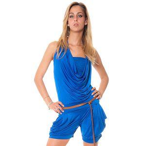 Dámsky krátký modrý overal Bella Rosa