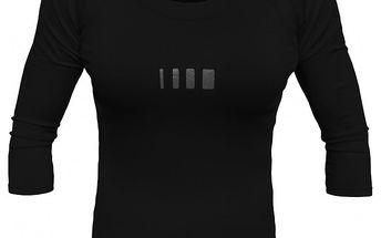Dámské černé tričko s 3/4 rukávy ALEA