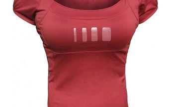 Dámské elastické bordó tričko ALEA