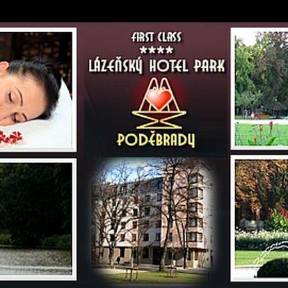 WELLNESS dovolená v lázeňském stylu přímo v centru PODĚBRAD! 3 dny v hotelu PARK**** včetně bohaté POLOPENZE a atraktivního balíčku 5 zážitkových, a tělu prospěšných, procedur za luxusní 3 200 Kč
