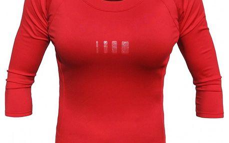 Dámské červené tričko s 3/4 rukávy ALEA