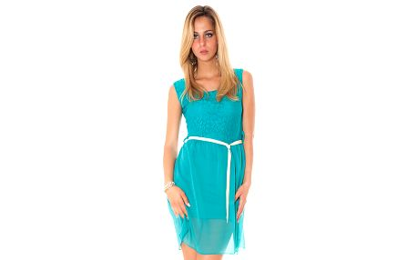 Dámske zelené šaty s mašľou Bella Rosa