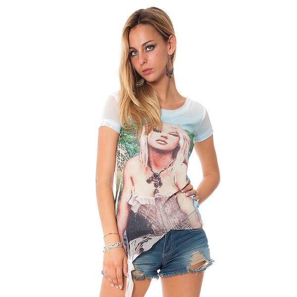 Dámske biele tričko s cípom Bella Rosa