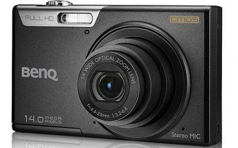 Fotoaparát BENQ LR100 Black - 14MPix, 5× optický zoom, 26mm širokoúhlý objektiv a také možnost natáčení FullHDvidea.