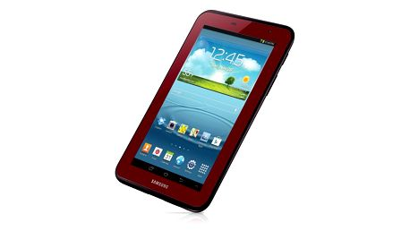 "Tablet Samsung Galaxy Tab 2 (P3100) 7.0"" 8GB, 3G + Wi-Fi, Garnet Red"