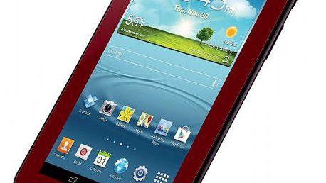"""Tablet Samsung Galaxy Tab 2 (P3100) 7.0"""" 8GB, 3G + Wi-Fi, Garnet Red"""