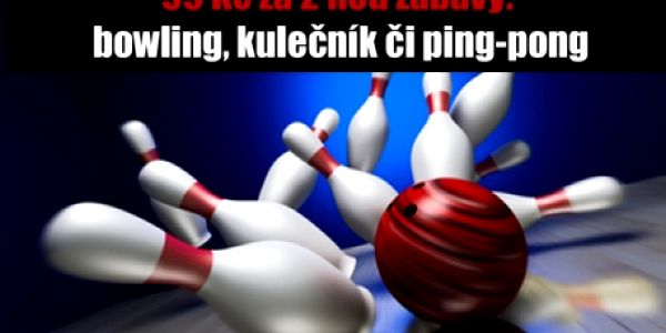 2 hod. zábavy: BOWLING, KULEČNÍK či PING-PONG!!! Neomezený počet hráčů na dráhu!!! Pobavte se s přáteli v Bowling Clubu 19 naproti O2 Aréně!!!