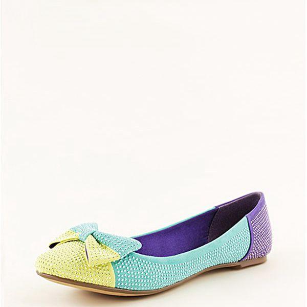 Blink, žluto-tyrkysovo-fialové baleríny