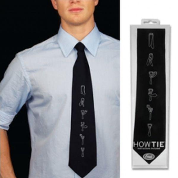 Vtipná kravata s návodem jen za 229 Kč!! Kvalitní kravata s originálním potiskem. Skvělá kombinace!