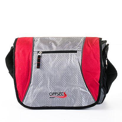 Střední červeno-šedá crossbody taška Offset a Sunray