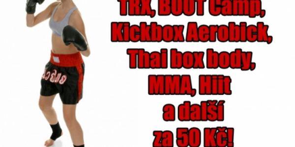 TRX, Hiit, Kickbox Aerobick, MMA, MMA ladies, Thai box body, Boot Camp a další cvičení v ENERGY Fitness studiu na Praha 3!