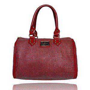 Dámská červená kabelka s kamínky Anna Smith