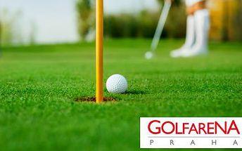 8x lekce teorie i praxe golfu v GOLFARENA Praha!
