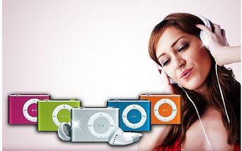 89 Kč za mini MP3 přehrávač se sluchátky, USB kabelem a nabíječkou. Vychutnávejte oblíbenou muziku na každém kroku s přehrávačem, vybírat můžete ze čtyř barev.