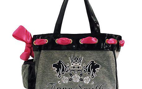 Dámská šedo-černá kabelka s potiskem Anna Smith