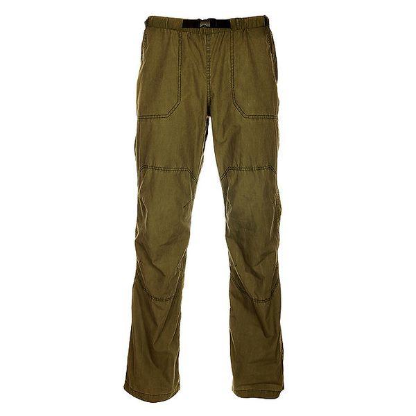 Pánské olivově zelené outdoorové kalhoty Hannah