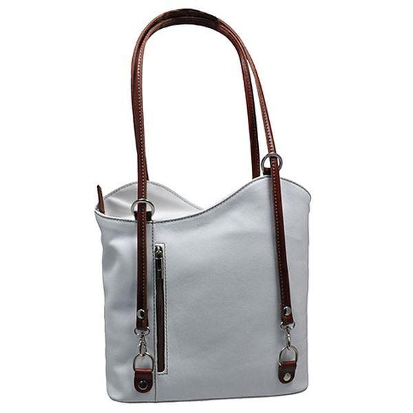 Bílá kožená kabelka Debbie