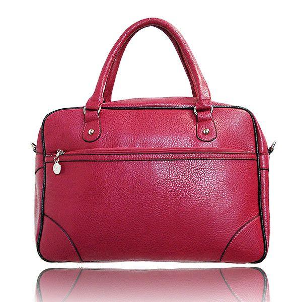 Dámská červená kabelka s černým lemováním London Fashion