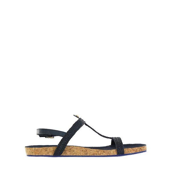 Dámské černé sandálky s korkovou podrážkou Flip Flop