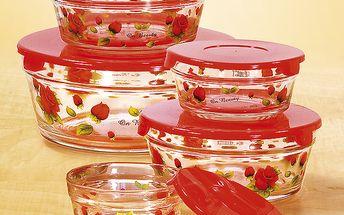 Skleněné misky s víčky