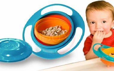 Revoluční dětská miska, ze které nic nevypadne - GYRO BOWL - vhodné pro malé i větší děti, zábava i bezpečnost! Otáčí se o 360 Stupňů!!